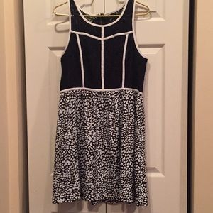 Lace and Leopard Kensie Dress